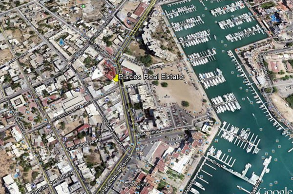 Location Map For Pisces Real Estate Cabo